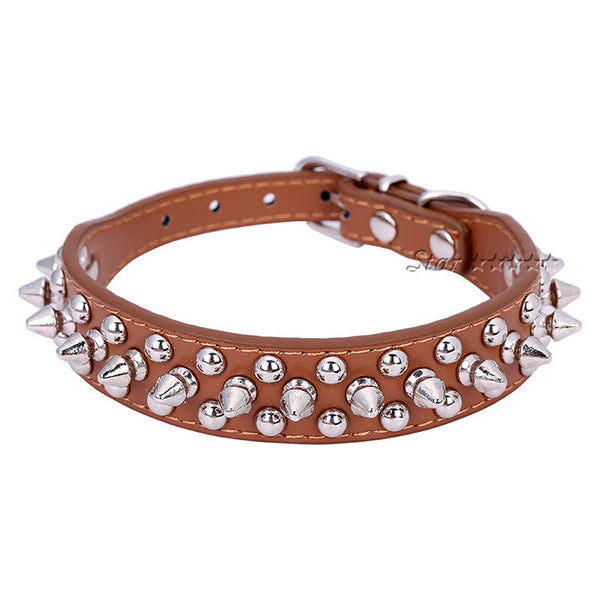 Spike Rivet Studded Collar