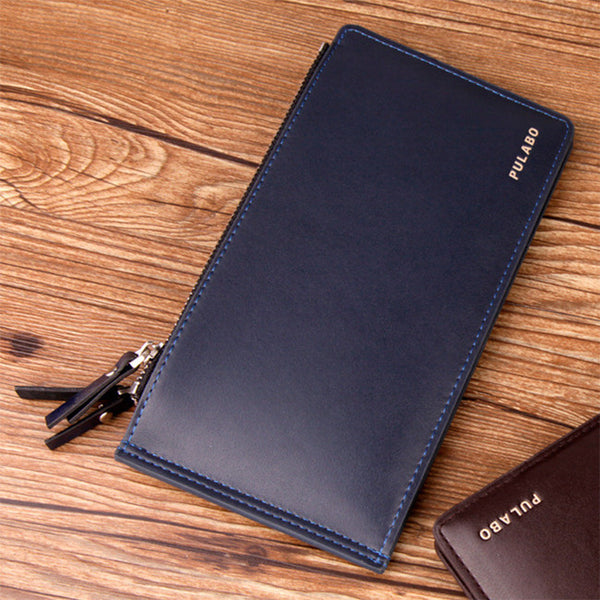 Clutch Double Zipper Men Leather Wallets - SALE EVENT + FREE SHIPPING