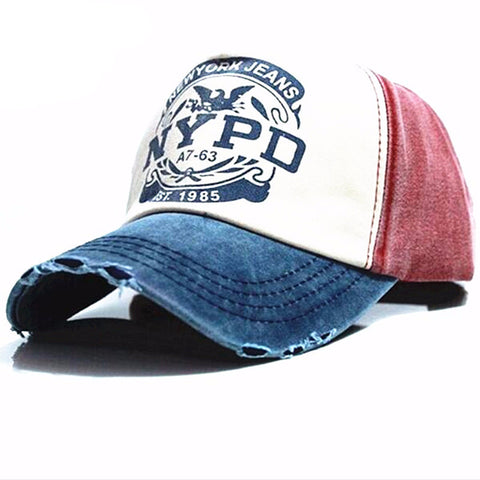 NYPD Casual Outdoor Sports Snapback Unisex Cap