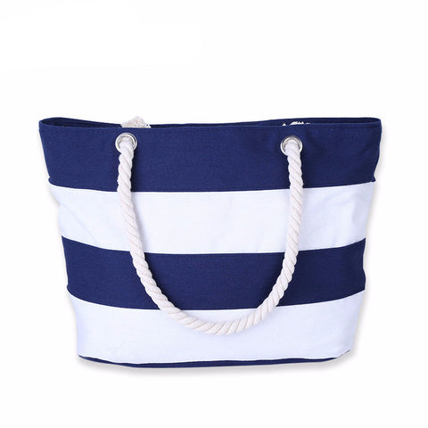 Color Stripes Beach Handbags
