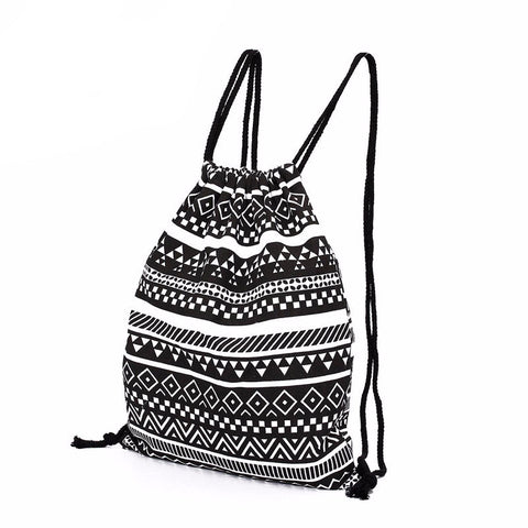 College Vintage Drawstring Backpack