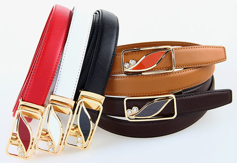 "Adjustable ""Animal Buckle"" Genuine Leather Belts"