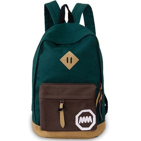 Canvas Travel/School Shoulder Backpack