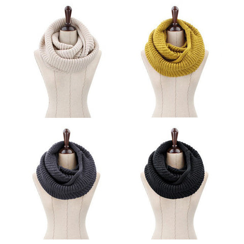 Winter knitted Collar Neck Warmer Scarf