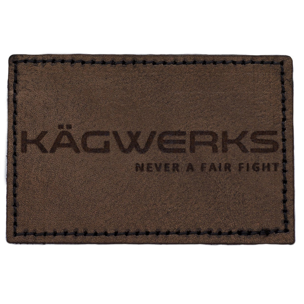 Kagwerks leather patch NFF 3 x 2