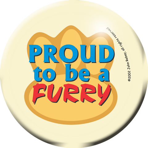 Proud to be a Furry button