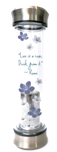 Love is a river drink from It Rumi quote Tea Tumbler