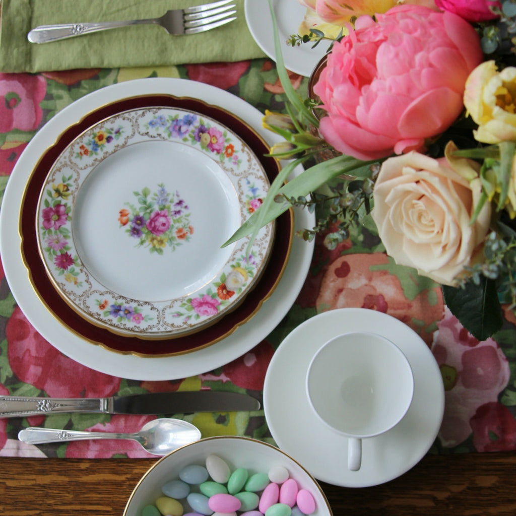 Springtime in Europe Tablescape