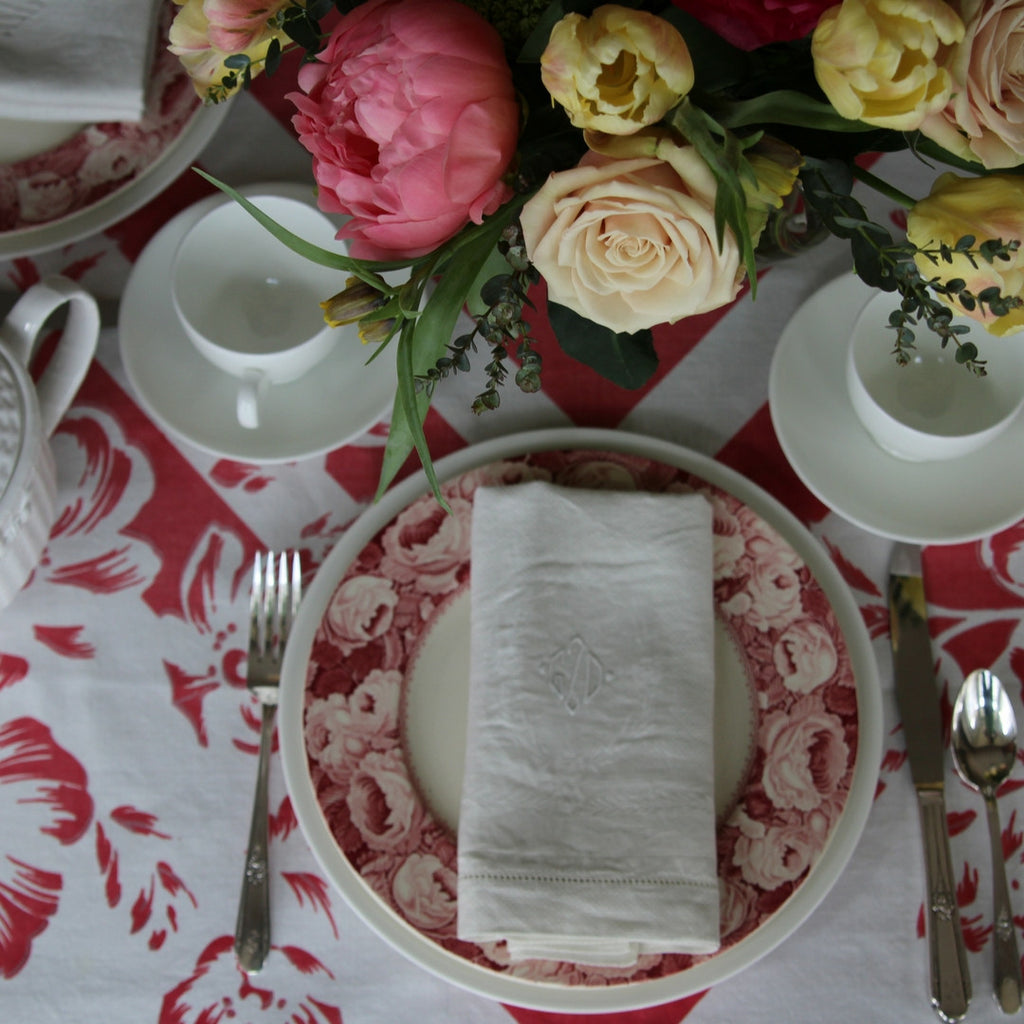 Royal Staffordshire June Pattern Table Setting