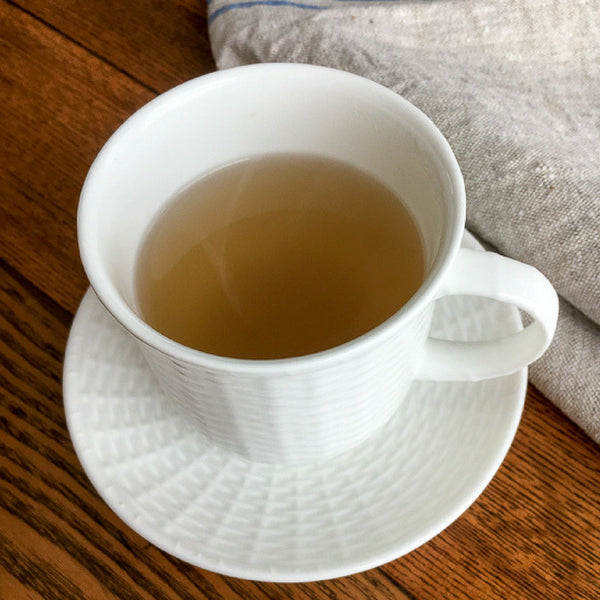 cup of fresh brewed ginger tea