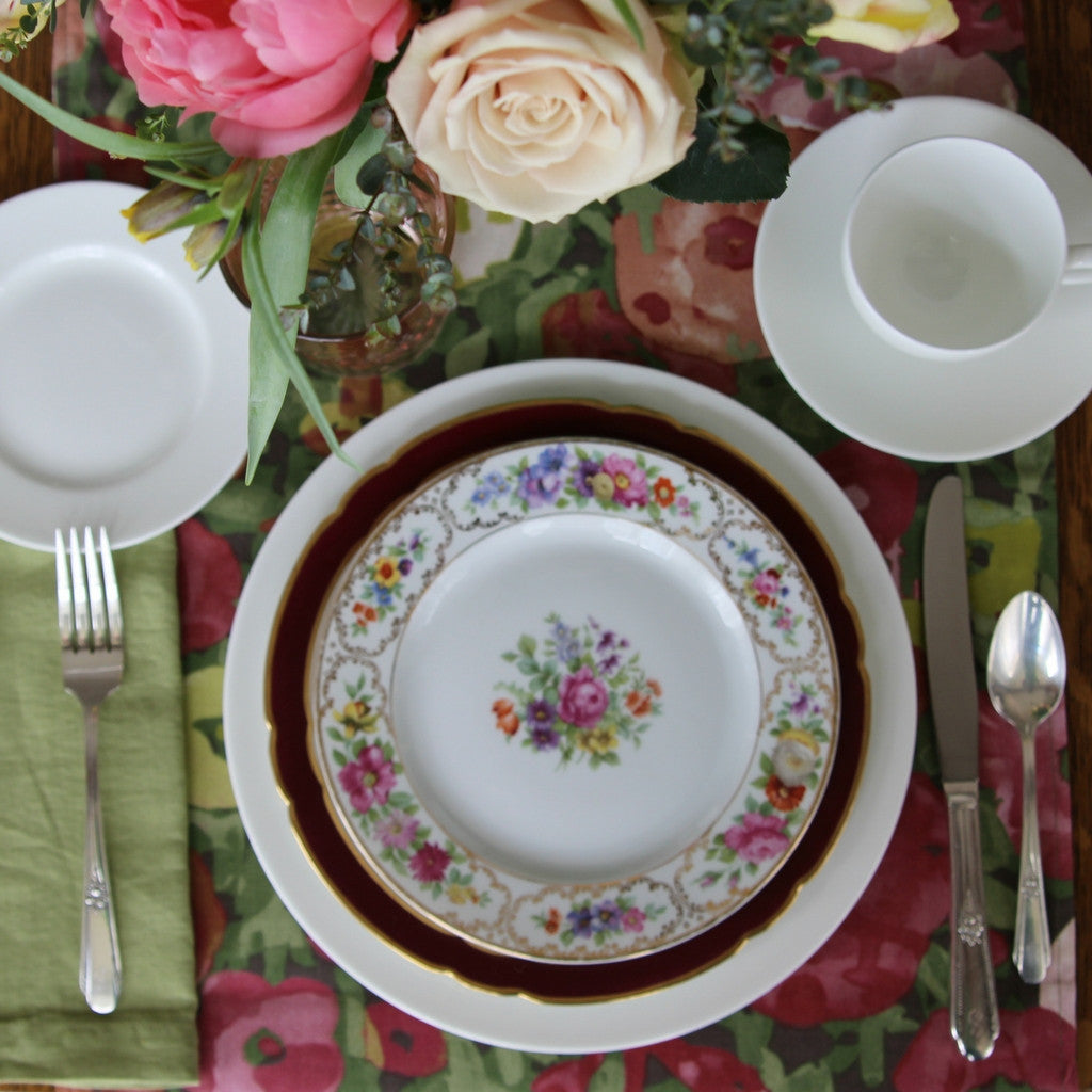 Springtime in Europe Table Setting