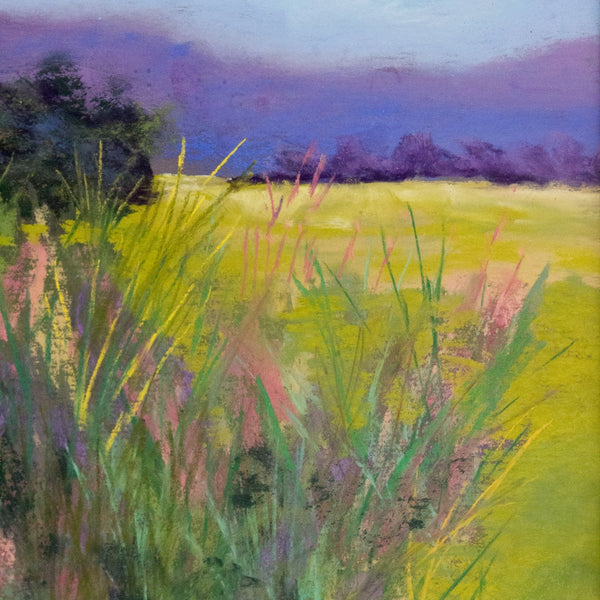 Grass Detail of Foreground Fantasy Pastel by Boulder Pastelist Diana Tripp