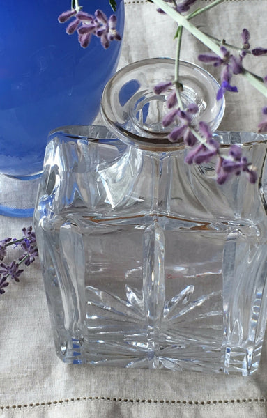 vintage Block crystal decanter