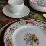 Floral Luncheon Plates, Set of Four