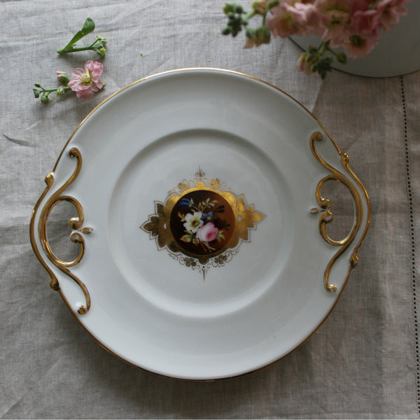Paris Porcelain French Antique Dessert/Cake Plate