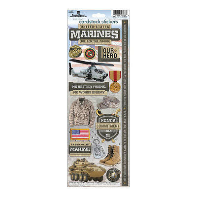 MARINES Stickers Military Scrapbooking Dog Tags Tank Camo Hero