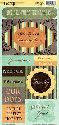 FAMILY STICKERS Scrapbooking Generations Sisters Family Girl Moxxie Kids Crafts