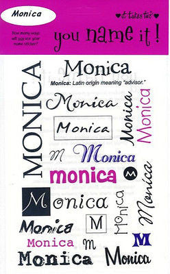 MONICA Name Stickers Scrapbooking Girls Personalized