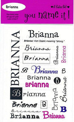 BRITTNEY Name Stickers Scrapbooking Girls Personalized