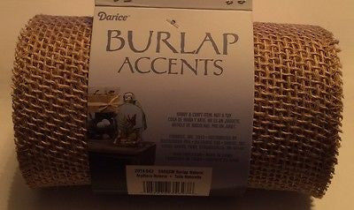 BURLAP RIBBON 6 inch wide 5 yards Sewn edge Natural color for Handmade Wreath