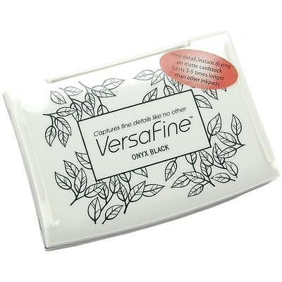 VERSAFINE Ink Pad ONYX BLACK Pigment Ink Stamping Stamp