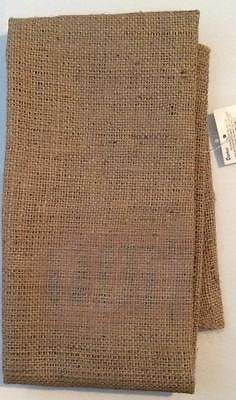 "BURLAP SHEET 22"" x 35"" One Edge Sewn, other 3 raw, Natural color Handmade Wreath"