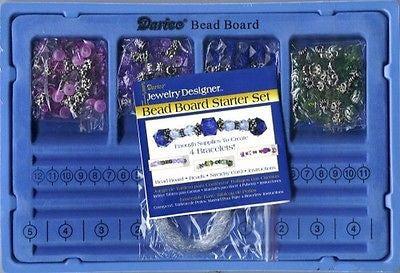 BRACELET Making Starter KIT Bead Board Cords Beads Spacers Jewelry Kids Crafts