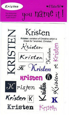 KRISTEN Name Stickers Scrapbooking Girls Personalized