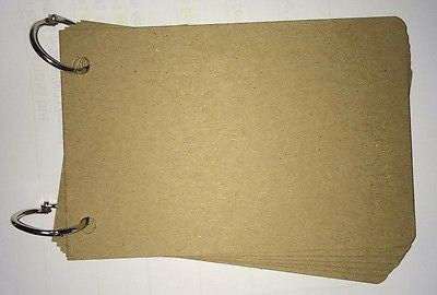 4x6 BARE CHIPBOARD Blank Album Natural Brown Color 6 pages with 2 book rings