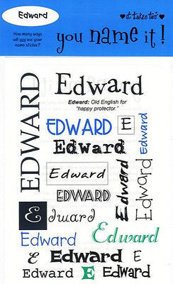 EDWARD Name Stickers Scrapbooking Boys Personalized