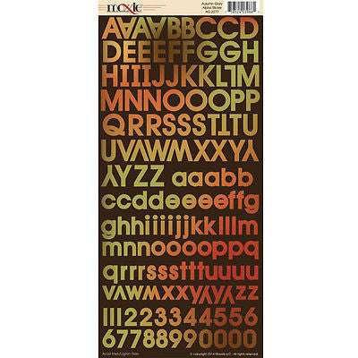 ALPHABET Stickers Letters Autumn Colors Fall Halloween Scrapbooking Kids Crafts