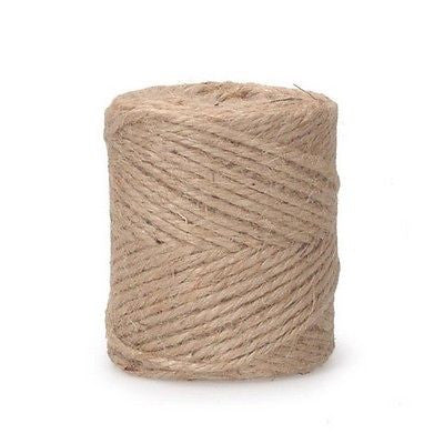JUTE TWINE 3 Ply 28 lb Cord, Natural Color 7.2 oz per spool (270 feet) Burlap