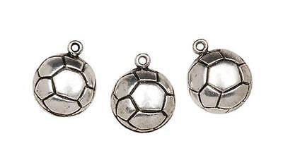 12 SOCCER CHARMS Ball Jewelry Sports Kids Crafts Bracelet Necklace Football