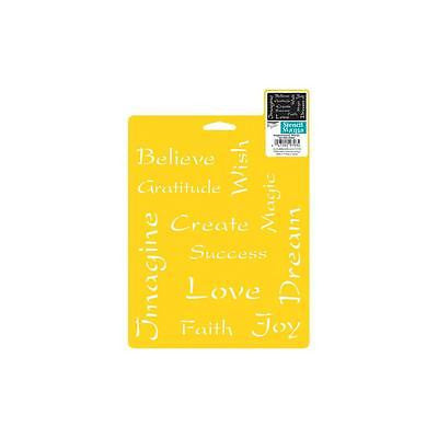 "INSPIRATIONAL STENCIL 7""x 10"" Love Faith Joy Dream more Crafts Scrapbooking"