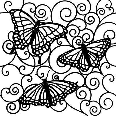 BUTTERFLY STENCIL 6x6 Flutterby Crafters Workshop Paper Crafts Scrapbooking