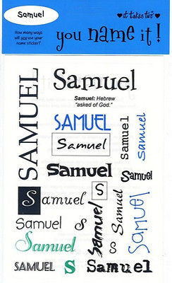 SAMUEL Name Stickers Scrapbooking Boys Personalized