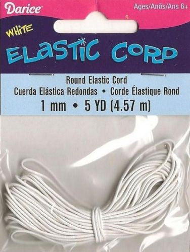 White Elastic 1mm Beading Cord Darice Kids Crafts Jewelry Making