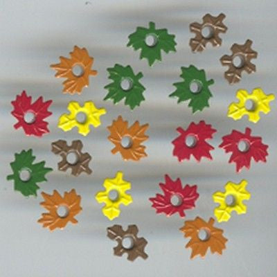 "LEAF EYELETS 1/8"" Fall Leaves Autumn Scrapbooking Card Making Kids Crafts"