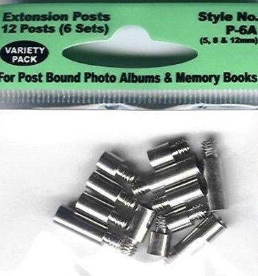 POST EXTENDERS PIONEER Extension Posts 5mm 8mm 12mm Album Scrapbooking Book