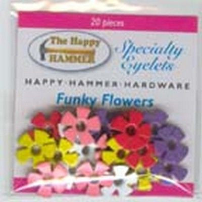 "FUNKY FLOWER EYELETS 1/8"" Scrapbooking Card Making Crafts"