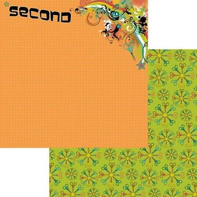 12x12 SECOND GRADE 2nd Paper Scrapbooking Kids Crafts School Moxxie