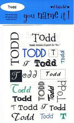 TODD Personalized Boys Name Stickers Scrapbooking