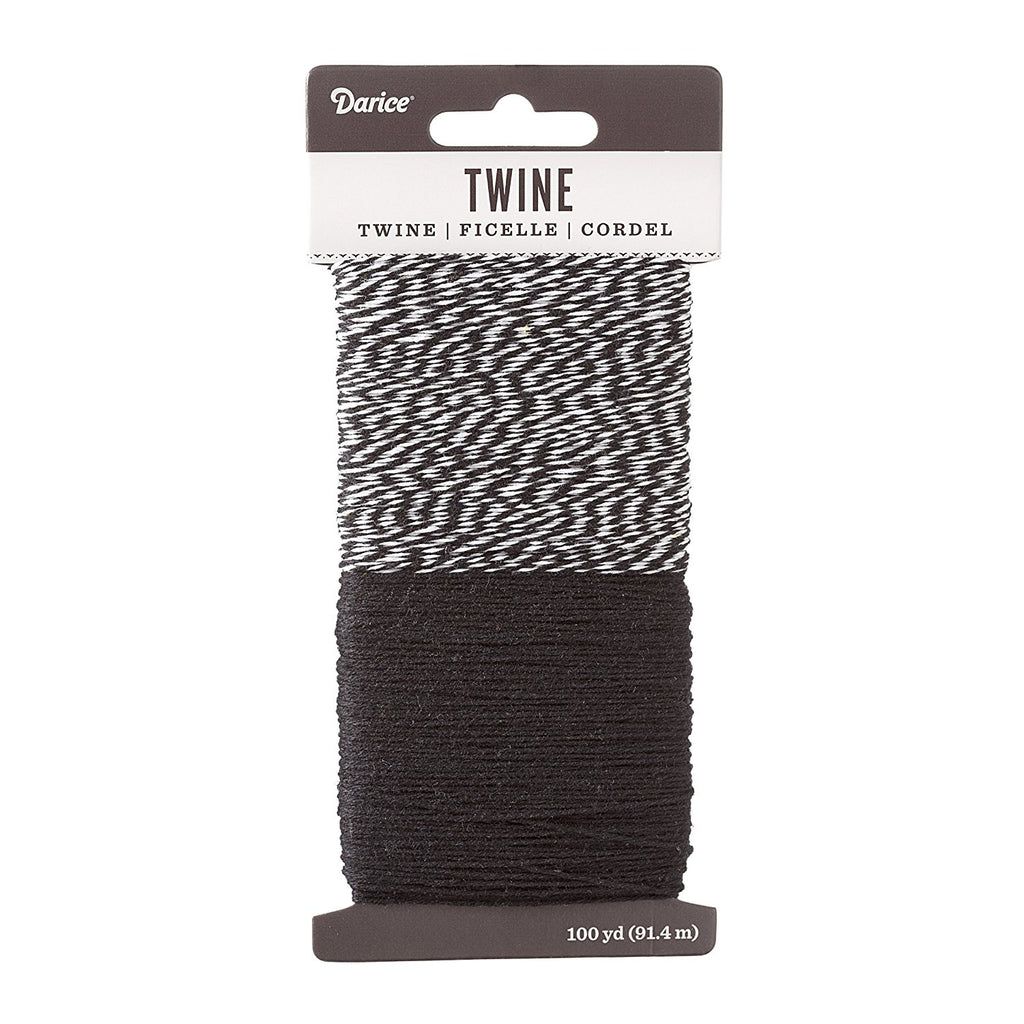 Black/White 100 Yd Bakers Twine Combo Pack Paper and Home Decor Crafts
