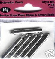 POST EXTENDERS PIONEER 3cm Extra Long Photo Album Extension Posts Scrapbooking