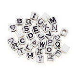 160 ALPHABET BEADS Letter 6mm Cube Sports Jewelry Kids Crafts Necklace Bracelet