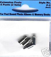 POST EXTENDERS PIONEER 8mm Extension Posts Album Scrapbooking Extender