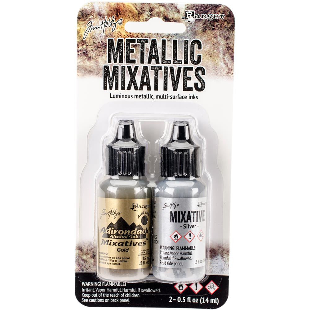 Metallic Mixatives Gold Silver Tim Holtz Alcohol Ink 2 pack Adirondack