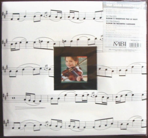 12x12 MUSIC Album Photo Memory Book Scrapbooking Choir Chorus Song Band Notes