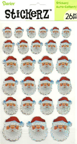 Santa Stickers Christmas Holidays Handmade Cards Scrapbooking