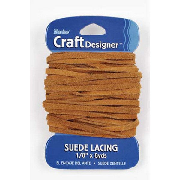 "Suede Lace Rust Brown Color 1/8"" wide x 8 yards Leather Jewelry Beading Crafts"